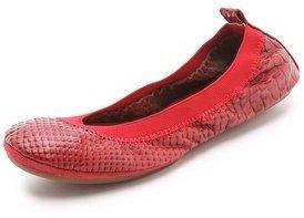 Yosi Samra Croc Ballet Flats