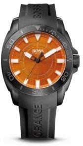 HUGO BOSS '1512952' - Silicon Black Logo Strap 3-Hand Quartz Watch