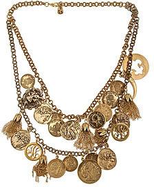 Yochi Design Yochi Multi Style Coin Necklace
