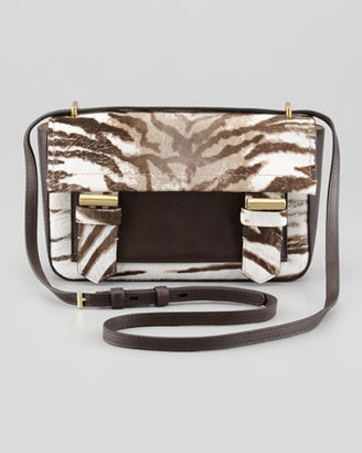 Reed Krakoff Academy Tiger-Print Calf Hair Crossbody Bag