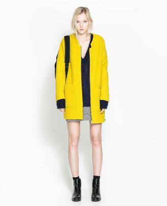 Zara Wool Coat With Center Zip