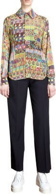 Comme des Garcons Multicolored Abstract Print Blouse