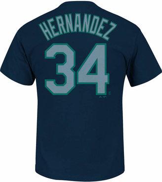 Majestic Men's Felix Hernandez Seattle Mariners Official Player T-Shirt