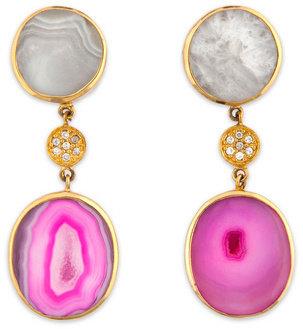 Isharya Doubly Druzy Earrings