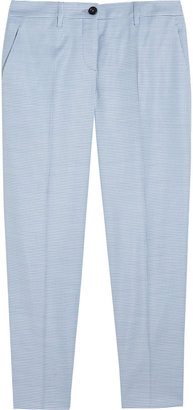 Miu Miu Houndstooth Stretch-Woven Straight-Leg Pants