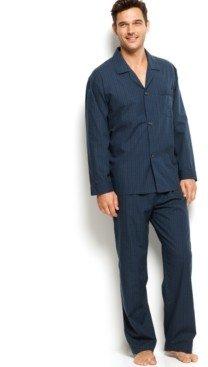 Club Room Men's Mini Blackwatch Pajamas, Shirt and Pants Set