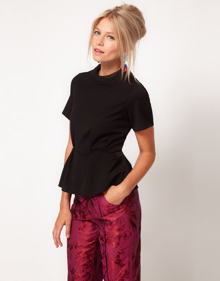 Asos Top With Structured Peplum