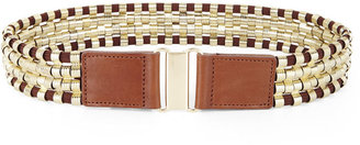 BCBGMAXAZRIA Metallic Waist Belt