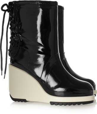Marc Jacobs Patent-leather wedge boots