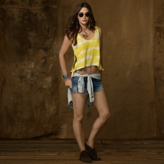 Denim & Supply Ralph Lauren Tie-Dye Cropped Jersey Tank
