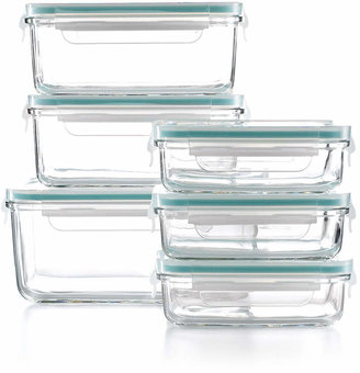 Martha Stewart Collection 12 Piece Glass Food Storage Container Set, Created for Macy's