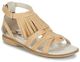 Citrouille et Compagnie INDIANA girls's Sandals in Beige