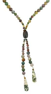 Lord & Taylor Multi-Earth Tone Bead 'Y' Necklace