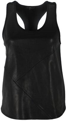 Tibi Leather with Ponte Tank