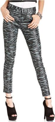 Monroe Marilyn Juniors Pants, Skinny Zebra-Print