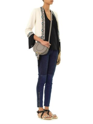 Paige Cara mid-rise patchwork skinny jeans