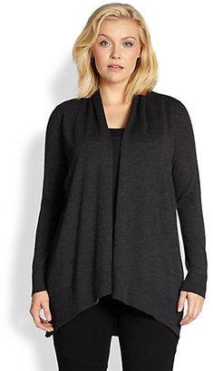 Eileen Fisher Eileen Fisher, Sizes 14-24 Merino Wool Cascading Cardigan