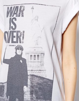 Asos T-Shirt with John Lennon War Is Over Print