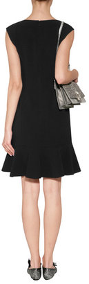 Ralph Lauren Black Label Double Face Wool Dress in Black