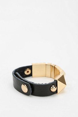 Urban Outfitters Pyramid Leather Bracelet