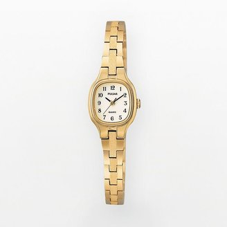 Pulsar stainless steel gold tone watch - women