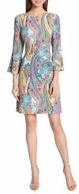 Tommy Hilfiger Paisley Jersey Bell Sleeve A-Line Dress