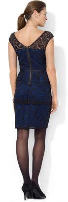 Lauren Ralph Lauren Cap-Sleeve Lace Dress