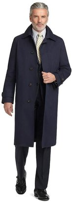 Brooks Brothers BrooksStorm® Single-Breasted Long Trench Coat