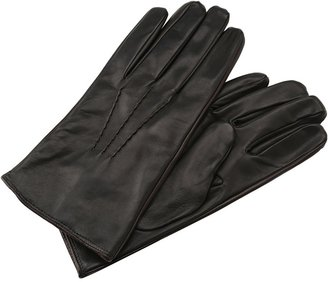 John Varvatos Collection - Leather Glove Contrast (Black) - Accessories