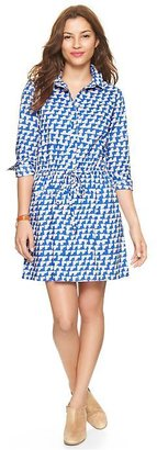 Gap Printed drawstring shirtdress