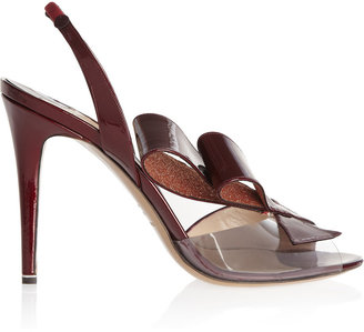 Nicholas Kirkwood Patent-leather and PVC slingbacks