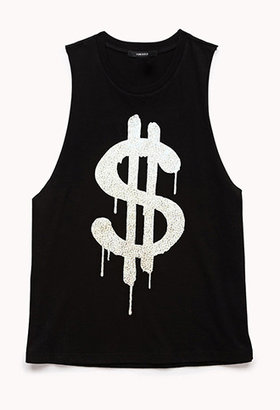 Forever 21 Dollar Sign Muscle Tee