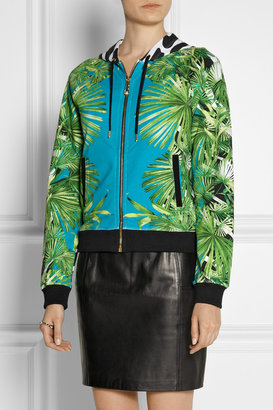 Versus Printed stretch-cotton hooded top