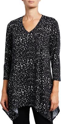 Caroline Rose Plus Size Take It Easy V-Neck Swing Knit Tunic