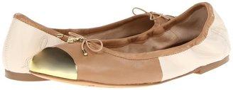 Sam Edelman Fairleigh (Classic Nude/Ice White Nappa Luva) - Footwear