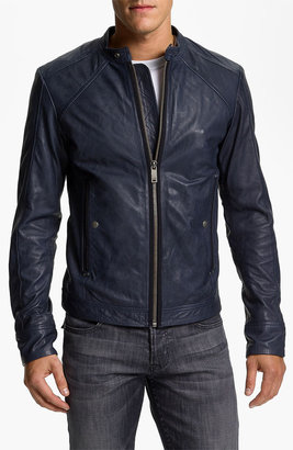 Diesel 'Leide' Extra Trim Fit Crinkled Leather Jacket