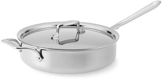 All-Clad d5 Stainless-Steel Nonstick Sauté Pan with Lid,4 QT