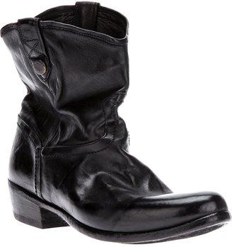 Alberto Fasciani distressed cuban heel boot