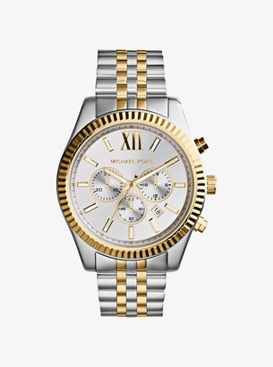 Michael Kors Oversized Lexington Two-Tone Watch