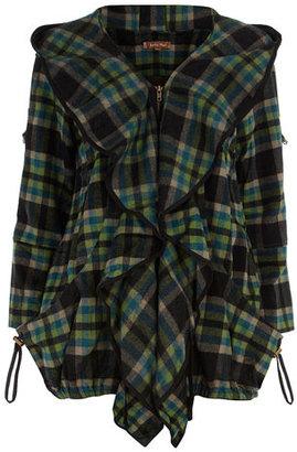 Dorothy Perkins Green check wool coat
