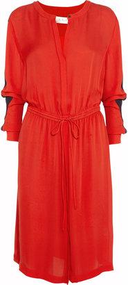 A.L.C. Landry drawstring silk-georgette dress