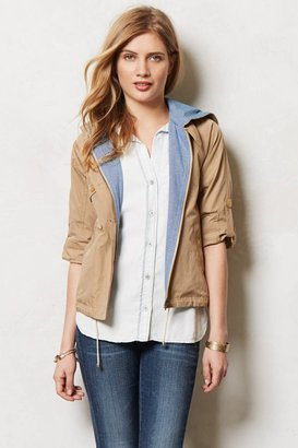 Anthropologie Cropped Hooded Anorak