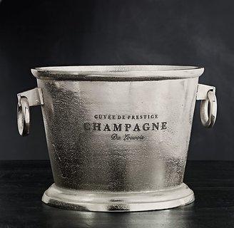Restoration Hardware Grand Brasserie Cast Aluminum Engraved Champagne Bucket