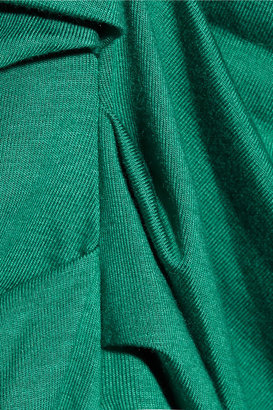 Diane von Furstenberg Bentley ruched stretch-jersey top