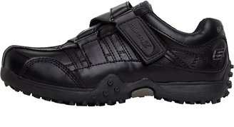 Skechers Boys Urban Track II Rage Velcro Shoes Black