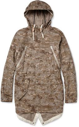 Woolrich Woolen Mills Camouflage-Print Ripstop Cotton Lightweight Coat