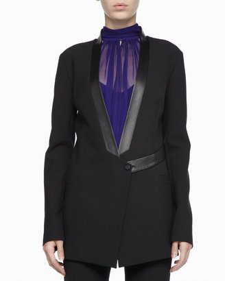 Robert Rodriguez Leather-Trim Tuxedo Jacket
