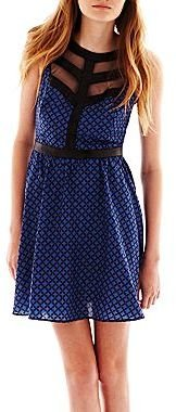 JCPenney Faux-Leather Cutout Dress