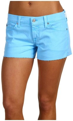 7 For All Mankind Cut-Off Short Neon (Neon Blue) - Apparel