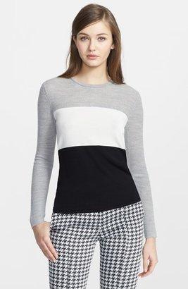 Narciso Rodriguez Colorblock Virgin Wool & Silk Sweater